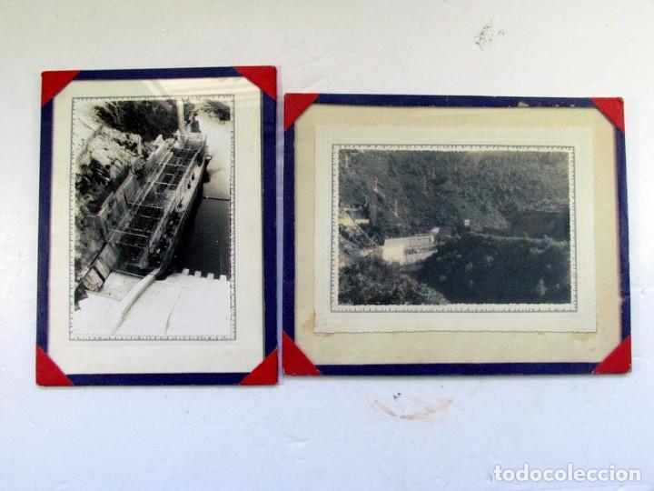 DOS FOTOS DE LA ANTIGUA PRESA DEL SOTO DE LA BARCA. CANGAS DEL NARCEA. ASTURIAS (Fotografía Antigua - Gelatinobromuro)
