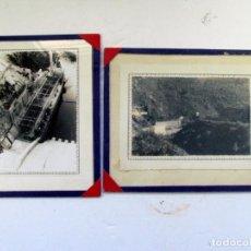 Fotografía antigua: DOS FOTOS DE LA ANTIGUA PRESA DEL SOTO DE LA BARCA. CANGAS DEL NARCEA. ASTURIAS. Lote 205827936