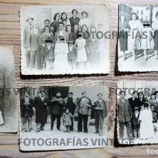 Fotografía antigua: 5 FOTOGRAFÍAS FAMILIARES.PRIMERA COMUNIÓN. CANTALAPIEDRA SALAMANCA. FOTO BOTRAN. Lote 207145997