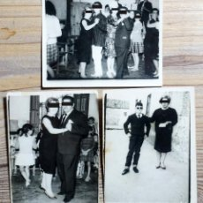 Fotografía antigua: TRES FOTOGRAFÍAS BAILANDO. MADRE E HIJO. FOTO PORRAS. GAMONAL (TOLEDO). Lote 207146360