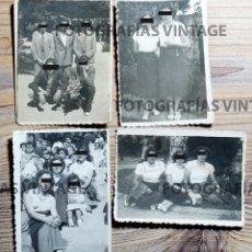 Fotografía antigua: 4 FOTOGRAFÍAS FAMILIARES HECHAS O REVELADAS POR FOTO NORA, FOTO NÚÑEZ Y FOTO COLÓN: VALLADOLID. Lote 207146730