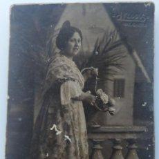 Fotografia antica: VALENCIA FOTOGRAFO J LLOPIS TARJETA POSTAL CARTON DURO. Lote 207699128
