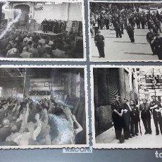 Fotografía antigua: 4 POSTALES FOTOGRAFIAS SINDICATO LOCAL TRANSPORTES TERRESTRES AEREOS Y COMUNICACIONES EN VALENCIA. Lote 207865977