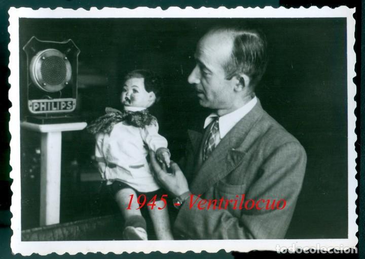 VENTRÍLOCUO - 1945 (Fotografía Antigua - Gelatinobromuro)