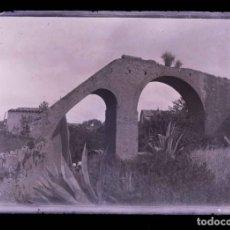 Fotografía antigua: ACUEDUCTO. BARCELONA. CONSTRUCCIÓN RARA. C.1905. Lote 210419140