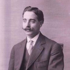 Fotografía antigua: CABALLERO. RETRATO DE JOVEN SEÑOR. FOTOGRAFÍA FAMILIAR. BARCELONA. C. 1905. Lote 210457262