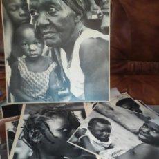 Fotografía antigua: LOTE FOTOGRAFÍAS WESNES SCHMIH AFRICANAS NIÑOS ANCIANA MUJER PRECIOSAS ÚNICO GRANDES ÁFRICA COLOR. Lote 210794329