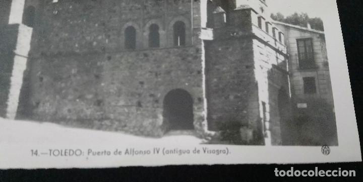Fotografía antigua: Toledo 15 vistas Foto Brillo de Heliotipia Artística Española de Madrid. 2ª. Serie - Foto 3 - 211624896
