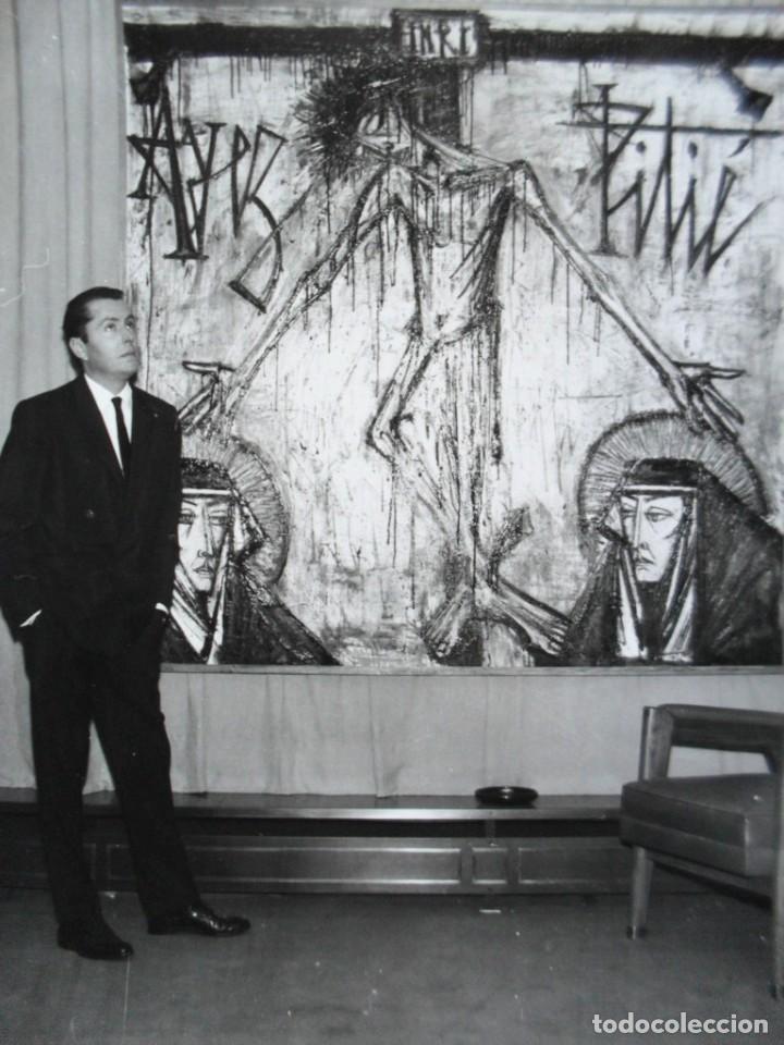 Fotografía antigua: BERNARD BUFFET - PINTOR - 1962 - Foto 2 - 211642820