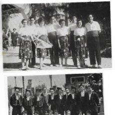 Fotografía antigua: NEGATIUS COLLES SARDANISTES TARRAGONA - LOT. 3 - 2 NEGATIUS. Lote 211998988