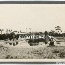 Fotografía antigua: LOTE 2 FOTOS ORIGINALES SITGES JARDINES DE TERRAMAR AÑOS 20/30. Lote 212085546