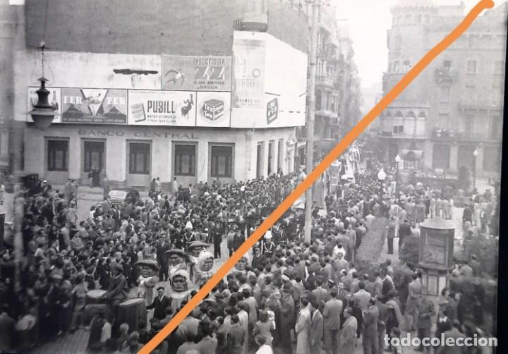 MANRESA.BARCELONA.NEGATIVO DE FOTOGRAFÍA.ESTEREOSCÓPICA.GIGANTES Y CABEZUDOS.CLICHE.1930/40.ANTIGUA. (Fotografía Antigua - Gelatinobromuro)