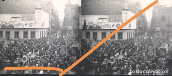 Fotografía antigua: Manresa.Barcelona.negativo de fotografía.estereoscópica.Gigantes y cabezudos.Cliche.1930/40.antigua. - Foto 2 - 214209083
