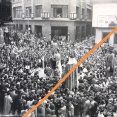 Fotografía antigua: MANRESA.BARCELONA.NEGATIVO DE FOTOGRAFÍA.ESTEREOSCÓPICA.GIGANTES Y CABEZUDOS.CLICHE.1930/40.ANTIGUA.. Lote 214209406