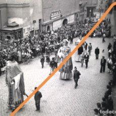 Fotografía antigua: MANRESA.BARCELONA.NEGATIVO DE FOTOGRAFÍA.ESTEREOSCÓPICA.GIGANTES Y CABEZUDOS.CLICHE.1930/40.ANTIGUA.. Lote 214209716