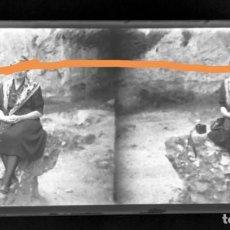 Fotografía antigua: NEGATIVO DE FOTOGRAFÍA.CERCANÍAS.SALLENT DE LLOBREGAT.MANRESA.BARCELONA.PLACA CRISTAL ESTEREOSCÓPICA. Lote 214374056