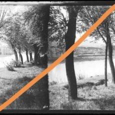 Fotografía antigua: NEGATIVO DE FOTOGRAFÍA.CERCANÍAS.SALLENT DE LLOBREGAT.MANRESA.BARCELONA.PLACA CRISTAL ESTEREOSCÓPICA. Lote 214374558