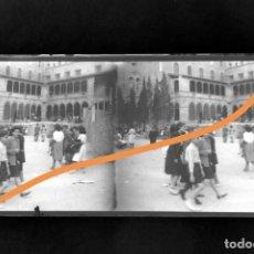 Fotografía antigua: NEGATIVO DE FOTOGRAFÍA. CERCANÍAS DE BARCELONA.PLACA CRISTAL ESTEREOSCÓPICA. Lote 214375515