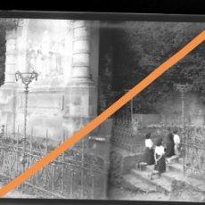 Fotografía antigua: NEGATIVO DE FOTOGRAFÍA. CERCANÍAS DE BARCELONA.PLACA CRISTAL ESTEREOSCÓPICA. Lote 214375635