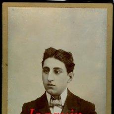 Fotografía antigua: JOAQUIN JUANOLA - 1900'S - FOTOGRAFIA J. GARCIA. Lote 214385598