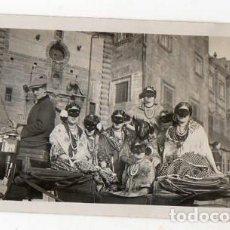 Fotografía antigua: GIJÓN. DOMINGO DE CARNAVAL. 19 DE FEBRERO DE 1928. CARROZA. ASTURIAS. Lote 214623366