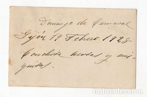 Fotografía antigua: GIJÓN. DOMINGO DE CARNAVAL. 19 DE FEBRERO DE 1928. CARROZA. ASTURIAS - Foto 2 - 214623366