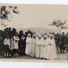 Fotografía antigua: CASA CUETO. OVIEDO. NIÑAS Y NIÑOS DE PRIMERA COMUNION. H. 1930. Lote 214623632