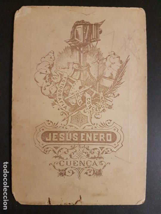 Fotografía antigua: CUENCA RETRATO DE MADRE E HIJOS JESUS ENERO FOTOGRAFO HACIA 1900 10 X 15 CMTS - Foto 2 - 217063825