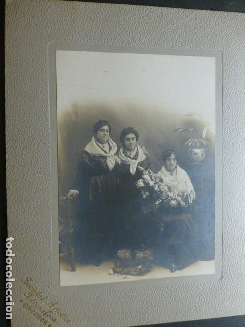 CACERES RETRATO DE MUJERES CON TRAJE TIPICO SOCIEDAD ARTISTICO FOTOGRAFICA FOTOGRAFO 1910 (Fotografía Antigua - Gelatinobromuro)
