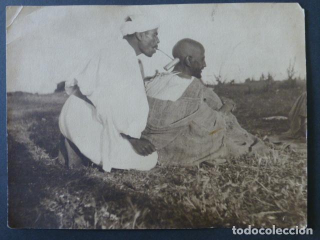 TETUAN MARRUECOS ESPAÑOL COSTUMBRES MARROQUIES FOTOGRAFIA 18 X 24 (Fotografía Antigua - Gelatinobromuro)