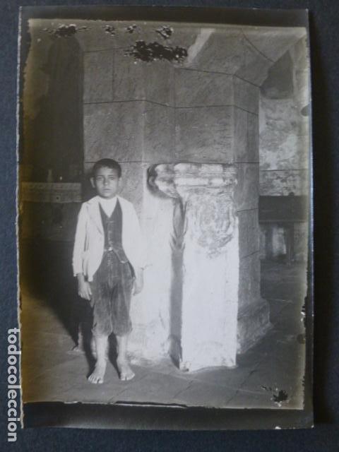 ALBURQUERQUE BADAJOZ IGLESIA SANTA MARIA FOTOGRAFIA HACIA 1900 ARCHIVO JOSE RAMON MELIDA 9 X 13 CMTS (Fotografía Antigua - Gelatinobromuro)