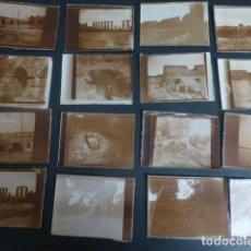 Fotografía antigua: MERIDA BADAJOZ CONJUNTO 16 FOTOGRAFIAS POR JOSE RAMON MELIDA ARQUEOLOGO HACIA 1920 5 X 6 CMTS. Lote 217176972