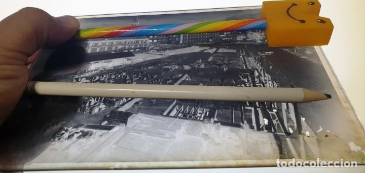 CRISTAL NEGATIVO MALLORCA. PALMA. SOLAR CON CONSTRUCCIÓN DEL CUARTEL DE INGENIEROS DE LAS AVENIDAS. (Fotografía Antigua - Gelatinobromuro)