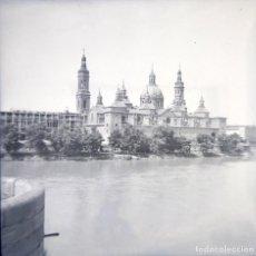 Fotografía antigua: ZARAGOZA 1952 NEGATIVO CELULOIDE TAMAÑO 6 X 6 CM.. Lote 219337823