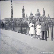 Fotografía antigua: ZARAGOZA 1952 NEGATIVO CELULOIDE TAMAÑO 6 X 6 CM.. Lote 219338148