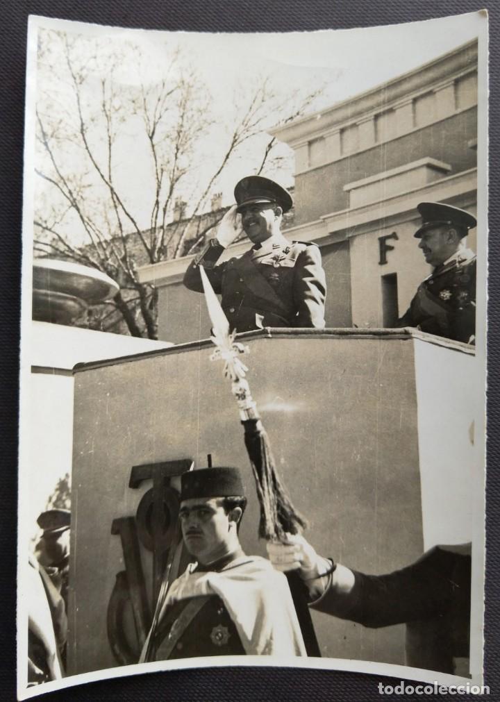 MADRID 1948 FRANCO PARADA MILITAR TAMAÑO 8 X 11.5 CM. (Fotografía Antigua - Gelatinobromuro)