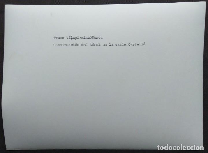 Fotografía antigua: BARCELONA CONSTRUCCIÓN DEL TUNEL VILAPICINA-HORTA TAMAÑO 18 X 24 CM. - Foto 2 - 221672246