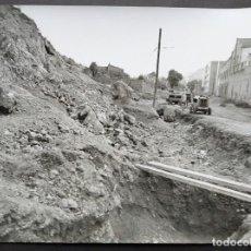 Fotografía antigua: BARCELONA CONSTRUCCIÓN DEL TUNEL VILAPICINA-PLAZA IBIZA TAMAÑO 18 X 24 CM.. Lote 221672365