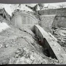 Fotografía antigua: BARCELONA CONSTRUCCIÓN DEL TUNEL VILAPICINA-HORTA TAMAÑO 18 X 24 CM.. Lote 221672575