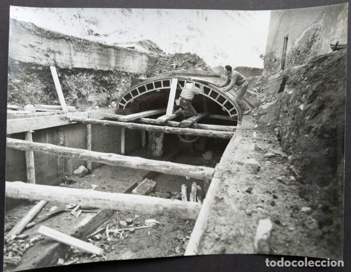 BARCELONA CONSTRUCCIÓN DEL TUNEL VILAPICINA-HORTA TAMAÑO 18 X 24 CM. (Fotografía Antigua - Gelatinobromuro)