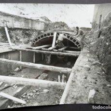 Fotografía antigua: BARCELONA CONSTRUCCIÓN DEL TUNEL VILAPICINA-HORTA TAMAÑO 18 X 24 CM.. Lote 221672620