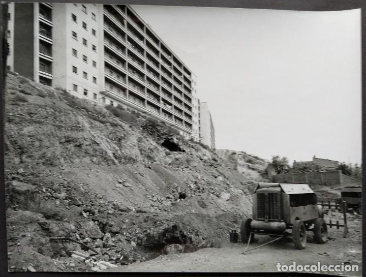 BARCELONA CONSTRUCCIÓN DEL TUNEL VILAPICINA-PLAZA IBIZA TAMAÑO 18 X 24 CM. (Fotografía Antigua - Gelatinobromuro)