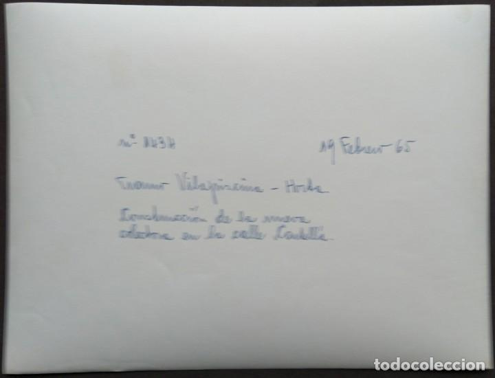 Fotografía antigua: BARCELONA CONSTRUCCIÓN DEL TUNEL VILAPICINA-HORTA TAMAÑO 18 X 24 CM. - Foto 2 - 221672790