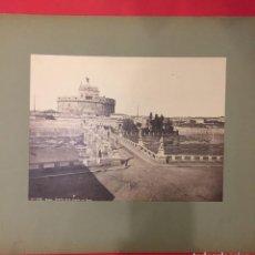 Fotografía antigua: ANTIGUA FOTOGRAFIA Nº 10, ROMA, CASTILLO DI S. ANGELO COL PONTE, LAURENT O KAULAK??. Lote 221749718