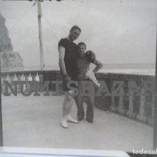 Photographie ancienne: ANTIGUO NEGATIVO EN PLÁSTICO Ó ACETATO - 9 X 9 CM.- APROX. AÑO 1920 - CON GUANTES DE BOXEO. Lote 222579025