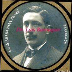 Fotografía antigua: DOCTOR LUIS BARRAQUER FERRÈ - BARCELONA - 1917 - 6,5 CM. DE DIAMETRO. Lote 224026601
