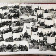 Fotografía antigua: GRAN LOTE DE 175 FOTOGRAFÍAS DE LOS FERROCARRILES CATALANES.1960'S.. Lote 224560331
