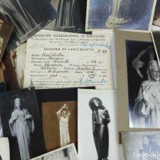Fotografía antigua: BARCELONA EXPOSICIÓN AÑO 1929. CONCURSO DE ESCULTURAS DE SEL SAGRADO CORAZÓN. LOTE DE 70 FOTOGRAFÍAS. Lote 224947867