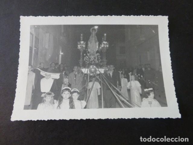 RONDA MALAGA PROCESION MEDALLA MILAGROSA SANTA MISION 1959 FOTOGRAFIA 8,5 X 14 CMTS (Fotografía Antigua - Gelatinobromuro)