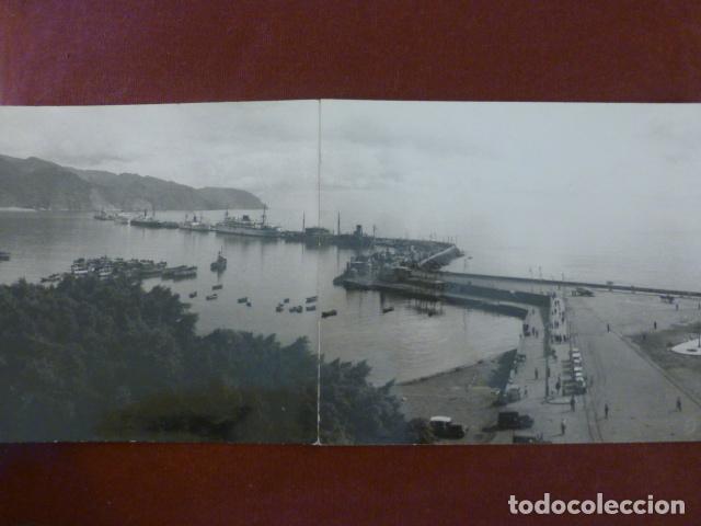 SANTA CRUZ DE TENERIFE VISTA DEL PUERTO PANORAMICA BENITEZ FOTOGRAFO HACIA 1930 16 X 44 CMTS (Fotografía Antigua - Gelatinobromuro)